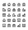 Building Icons 1 vector image vector image