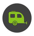 camping trailer glyph color icon vector image