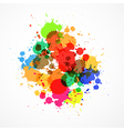 Colorful Sale Blots Background vector image vector image