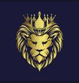 crown gold lion logo company premium vector image vector image