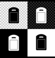 cutting board icon isolated on black white and vector image