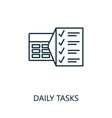 daily tasks outline icon thin line concept vector image vector image