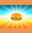 delicious hamburger vector image vector image