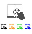 double click tablet icon vector image vector image