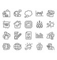 education icons set included icon as checkbox vector image vector image