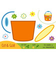 education paper game for children pail vector image vector image
