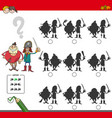 educational shadow game with pirates vector image vector image