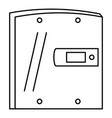 electric door icon outline style vector image vector image