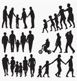 family 3 silhouettes vector image vector image
