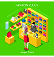 Fashion Moods 05 People Isometric vector image vector image