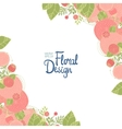 Floral corner and place for text vector image vector image