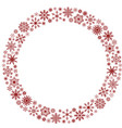 frame with snowflakes image vector image vector image