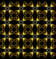 gold seamless geometric pattern on a black vector image
