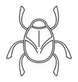 golden bug icon outline style vector image