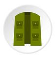 green hunter vest icon circle vector image vector image