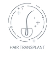 Hair transplant symbol vector image vector image