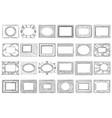 hand drawn picture frames sketch frame doodle vector image vector image