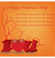happy valentines day cards with ornaments hearts vector image vector image
