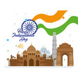 indian happy independence day with ashoka wheel