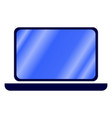 isolated laptop vector image