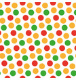 kids seamless pattern with polka dots bright vector image vector image