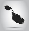 malta map black icon on white background vector image
