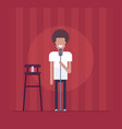 man performing - modern flat design style isolated vector image