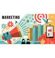Marketing online concept design modern business vector image vector image