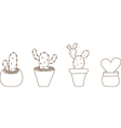 Mini Cactus Pot vector image vector image