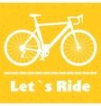 Minimalistic bike poster Let s Ride Black road vector image vector image