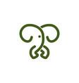 mono line elephant logo designs inspiration vector image