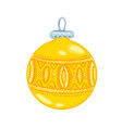 new year toy decoration on the christmas tree vector image vector image