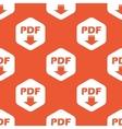 Orange hexagon PDF download pattern vector image vector image
