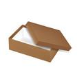 packaging top view open empty brown shoe vector image vector image