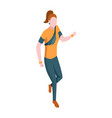 people in park isometric woman engaged in sports vector image
