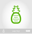 pineapple outline icon summer vacation vector image vector image