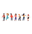 positive emotions and dancing people concept vector image vector image