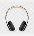 realistic headphone vector image vector image