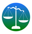 scales of justice sign white icon in vector image vector image