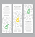 set of science and research vertical vector image