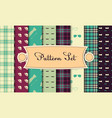 set of seamless backgrounds in hipster style vector image vector image
