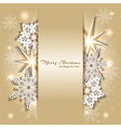 Sparkling Golden Christmas Background vector image