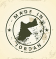 Stamp with map of Jordan vector image
