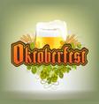 stock raster oktoberfest logo beer vector image