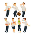stress and illnesses or disease isolated character vector image vector image
