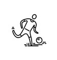 thin line icon football soccer player vector image vector image