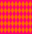 tile orange and pink pattern vector image vector image