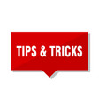 tips tricks red tag vector image vector image