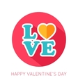 Valentines day flat isolated icon vector image vector image