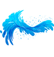 Water splash on white background vector image